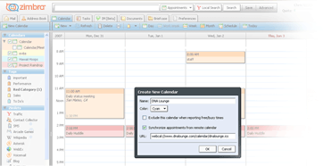 Webconnect Hosting - Zimbra Email Shared Calendars Contacts